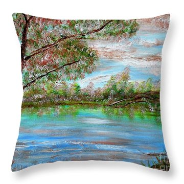 Spring On Arkansas' Greer's Ferry Lake Throw Pillow