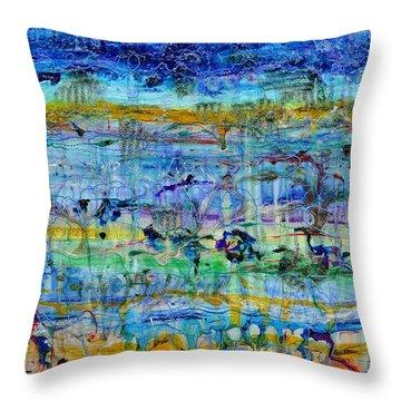 Spring On Jupiter And Mars Throw Pillow by Regina Valluzzi