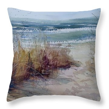 Spring On Lake Michigan Throw Pillow