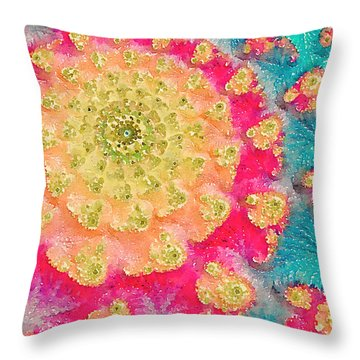 Throw Pillow featuring the digital art Spring On Parade 2 by Bonnie Bruno