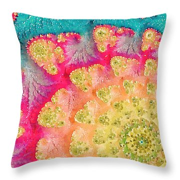 Throw Pillow featuring the digital art Spring On Parade by Bonnie Bruno