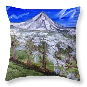 Spring On The Hood Throw Pillow