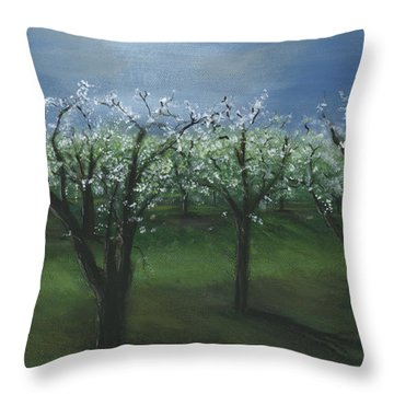 Spring Orchard Throw Pillow