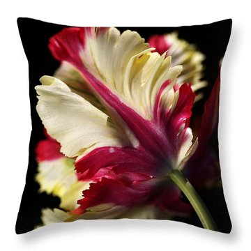 Spring Parrot Tulip Throw Pillow