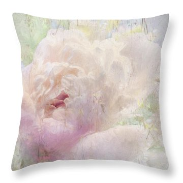Spring Peony Throw Pillow
