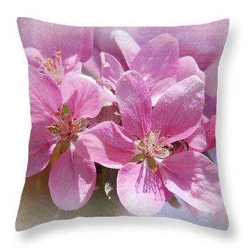 Throw Pillow featuring the photograph Spring Cherry Blossoms by Elaine Manley