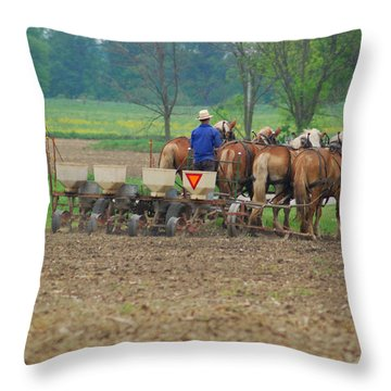 Spring Planting Throw Pillow