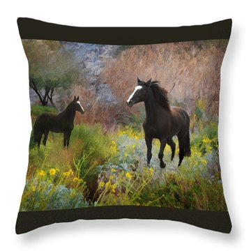 Throw Pillow featuring the photograph Spring Play by Melinda Hughes-Berland