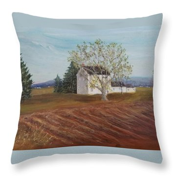 Spring Plowing Throw Pillow