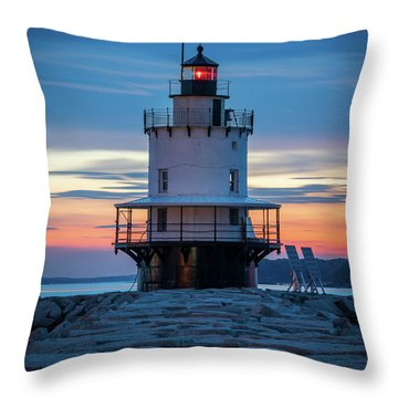 Spring Point Ledge Light Blue Hour II Throw Pillow