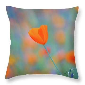 Spring Poppy Throw Pillow