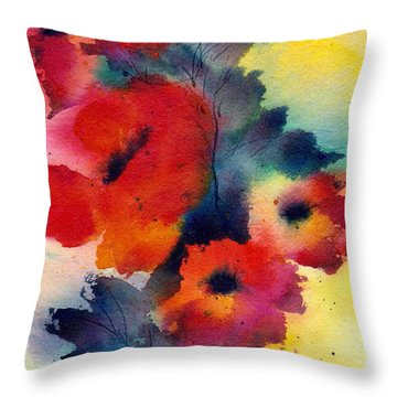 Spring Quartet Throw Pillow