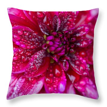 Spring - Rain And Flower Throw Pillow by Patrick Downey