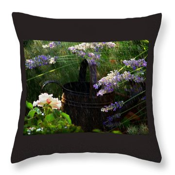 Spring Rain Throw Pillow by Marika Evanson