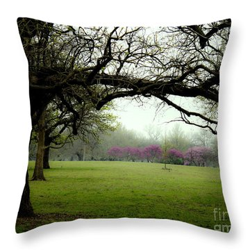 Spring Redbuds Throw Pillow