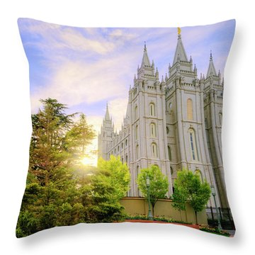 Spring Rest Throw Pillow by Chad Dutson