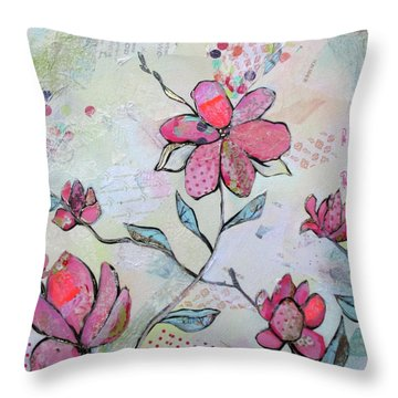 Spring Reverie II Throw Pillow
