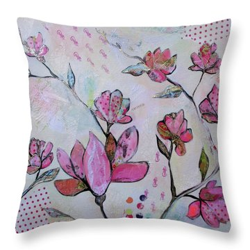 Spring Reverie Iv Throw Pillow