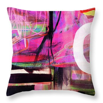 Spring Rhapsody- Art By Linda Woods Throw Pillow