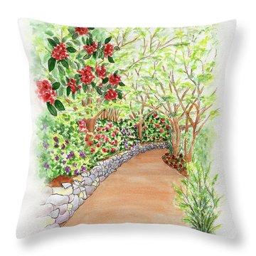 Spring Rhodies Throw Pillow