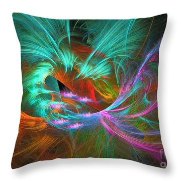 Spring Riot - Abstract Art Throw Pillow