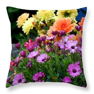 Spring Riot Throw Pillow
