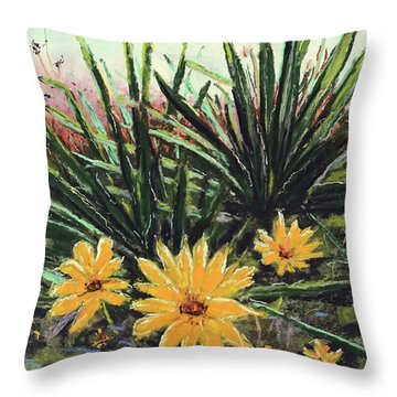 Spring Rising Throw Pillow by Vickie Scarlett-Fisher