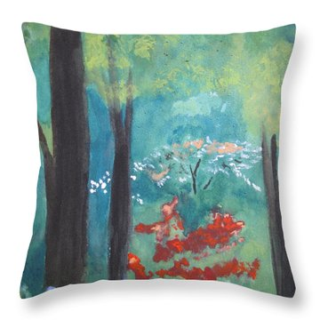 Throw Pillow featuring the painting Spring by Sandy McIntire