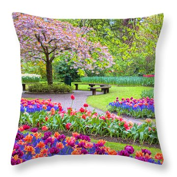 Spring Season Throw Pillow