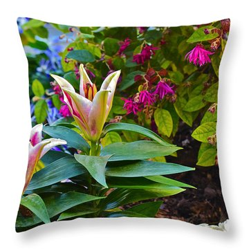 Spring Show 15 Lilies Throw Pillow
