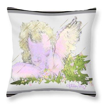 Spring Shower Slumber Throw Pillow