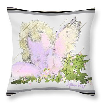 Spring Shower Slumber Throw Pillow