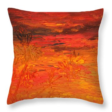 Spring Twilight Throw Pillow by Vadim Levin