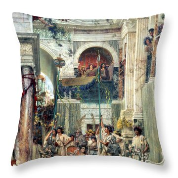 Spring Throw Pillow by Sir Lawrence Alma-Tadema