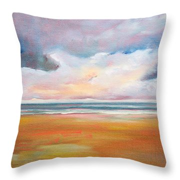 Spring Skies Throw Pillow by Trina Teele