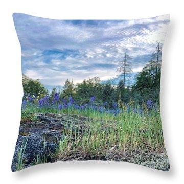 Spring Sky Throw Pillow