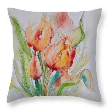 Spring Smiles Throw Pillow