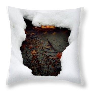 Spring Snow II Throw Pillow