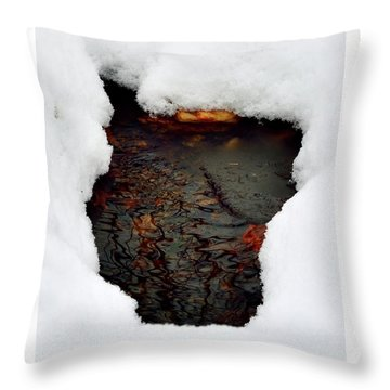 Throw Pillow featuring the photograph Spring Snow II by EDi by Darlene