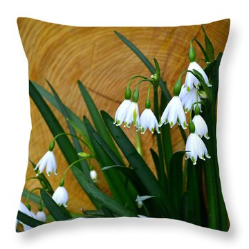 Spring Snowflake Throw Pillow