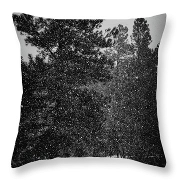 Spring Snowstorm Throw Pillow
