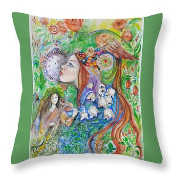 Spring Song Throw Pillow