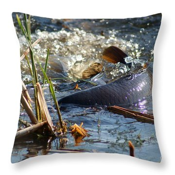 Spring Spawn Throw Pillow by Joanne Smoley