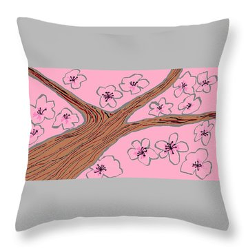 Spring Stained Glass 3 Throw Pillow