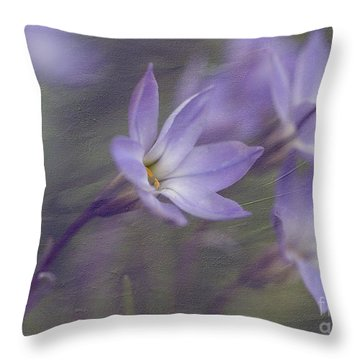 Spring Starflower Throw Pillow