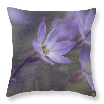 Spring Starflower Throw Pillow