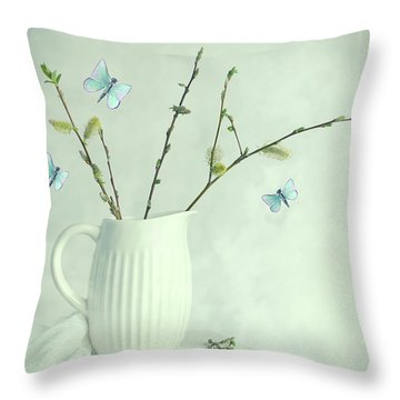 Spring Still Life Throw Pillow