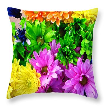 Throw Pillow featuring the painting Spring Still Life Floral 721 by Mas Art Studio