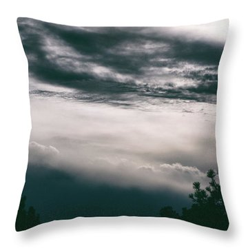 Spring Storm Cloudscape Throw Pillow