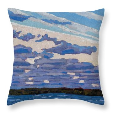 Spring Stratocumulus Throw Pillow by Phil Chadwick